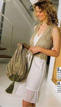 sleeveless bolero and that bag!