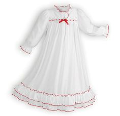 Girls Sleepwear Made in the USA Clara's Exclusive Girl's White Nightgown Girls Special Occasion Dresses, Gowns For Girls, Christmas Nightgowns, White Nightgown, Girls Sleepwear, Traditional Dresses, Nightwear, Night Gown, Cute Dresses
