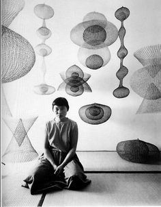 Ruth Asawa, former student of Black Mountain College, NC.