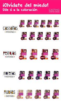 ¿Conoces el tinte sin amoníaco de L'Oréal Paris México? ¡Olvídate del miedo con Casting Creme Gloss! Busca los diferentes tonos de color de cabello de moda y elige el tinte que tú quieras.