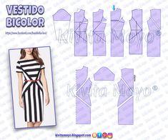 Bodice Pattern, Collar Pattern, Dress Sewing Patterns, Clothing Patterns, Pattern Drafting, Fashion Sewing, Sewing Techniques, Pattern Fashion, Diy Clothes