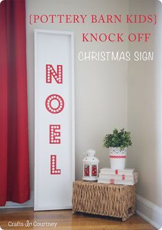 DIY Home Decor | Christmas | Find out how this large Pottery Barn inspired NOEL holiday sign was made for less than $15!
