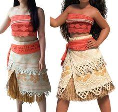 BP300 moana costume movie cosplay princess party corset skirt belt custom made