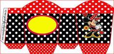 Minnie Roja: Cajas para Imprimir Gratis. Girl Birthday Themes, Kids Party Themes, Birthday Party Decorations, Printable Box, Free Printables, Box Invitations, Oh My Fiesta, Paper Purse, Minnie