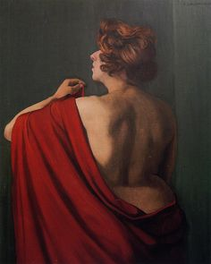 Woman with a red shawl - Felix Valloton - WikiPaintings.org