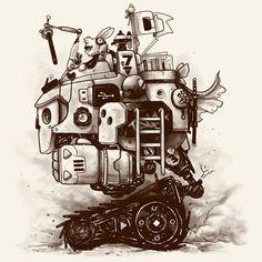 Camiseta 'Coelhos, robôs e afins'. http://cami.st/p/1638