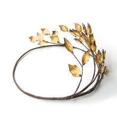Amber Colour Leaf Crown Leaf Hair Wreath Greek Leaf di curtainroad, $27.00