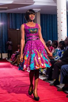 VIDEO: Watch Togolese Based Designer Grace Wallace Launch Her New Collection 'FLAME' | FashionGHANA.com: 100% African Fashion