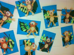 Monkey cut and paste-Kindergarten (art teacher: v. giannetto)