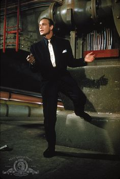 I love Marlon Brando in Guys and Dolls. Beautiful man...sharp dresser... this is how gangsters should look.