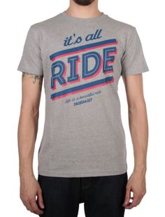 """All Ride Tee [grey-mel.] *** IRIEDAILY """"Fight for your Ride"""" - Early Fall 2015 Collection OUT NOW: http://www.iriedaily.de/blog/iriedaily-early-fall-2015-collection-out-now-2/"""
