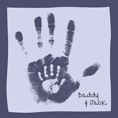 DIY Father's Day Hand Print Craft ♥