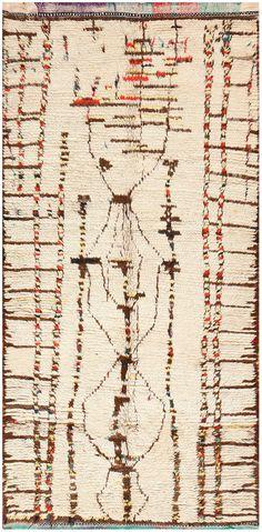 Vintage Tribal Moroccan Rug 48397 vintage tribal detail