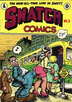 R. Crumb - Snatch Comics cover