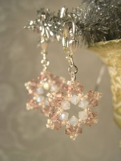 Swarovski snowflake earrings