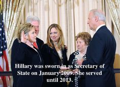 After loosing the election, President Obama appointed her the Secretary of State.