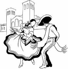 Dancing Sketch, Dancing Drawings, Art Drawings Sketches, Easy Drawings, Dancer Tattoo, Dancer Drawing, Folk Dance, Dance Art, Yoga Symbole