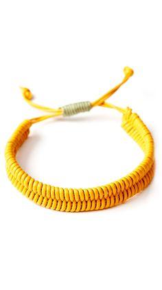 yellow fishbone bracelet