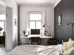 Una pared negra que puede cambiar tu dormitorio | Ministry of Deco