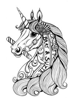 carousel unicorn coloring page
