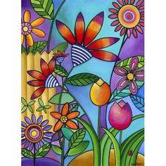 PrestigeArtStudios Fence With Flowers Graphic Art