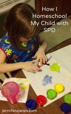 How I Homeschool My Child with SPD - jenniferajanes.com