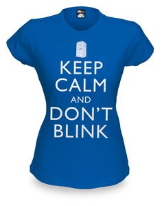 ThinkGeek :: Keep Calm and Don't Blink Babydoll $21.99