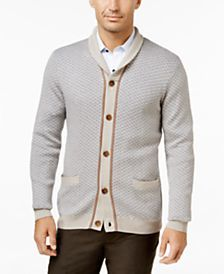 Tasso Elba Men's Shawl-Collar Texture Cardigan, Only at Macy's