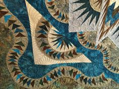 Glacier Star quilted by Amy Bouchard for Vicki Johnson