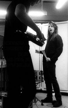 Dave and Krist NETHERLANDS - NOVEMBER 25, 1991: HILVERSUM STUDIOS