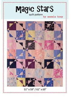 Beginner friendly layer cake pattern with a fun magic twist.Choice of making quilt with or without bordersVery quick and easy to piece. No templates or paper piecing.Materials needed (without layer cake or 42 - 10 Layer Cake Quilt Patterns, Quilt Square Patterns, Layer Cake Quilts, Quilting Tutorials, Quilting Projects, Quilting Designs, Sewing Projects, Quilt Design, Quilting Patterns