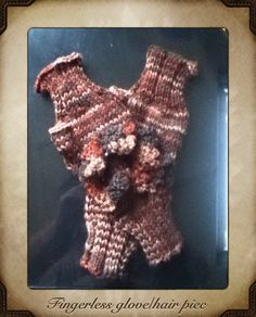 Fingerless gloves with free hair accessory by mitchellheart, $5.99