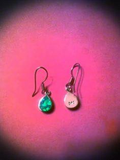 Fire Opal and 925 Sterling silver teardrop earrings nwt - $15