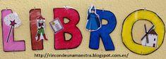 Rincón de una maestra: ¡Cómete un buen libro! Panel, Symbols, Letters, Internet, Blog, Library Activities, School Libraries, Library Ideas, Good Books