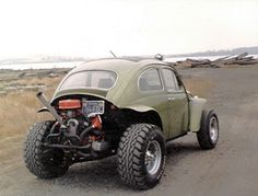 This was just like my first car. A 1962 Baja Bug rag top.  I had so much fun in it!