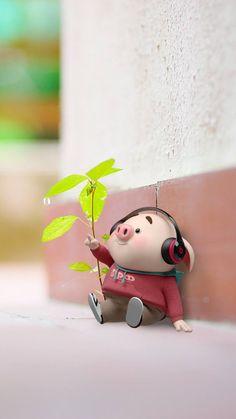 Pig Wallpaper, Disney Wallpaper, This Little Piggy, Little Pigs, Cute Cartoon Wallpapers, Pretty Wallpapers, Cute Bunny Cartoon, Cute Piglets, 3d Art