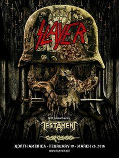 Slayer - Testament North America 2016