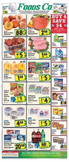 Foods Co 6/5 - 6/11 Weekly Deals & Coupon Matchups