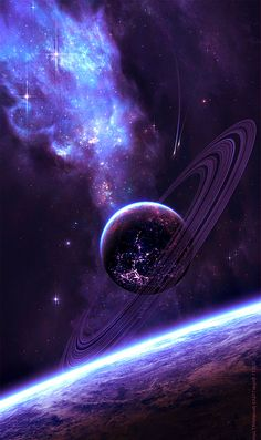 Space in Art astronomie Planets Wallpaper, Wallpaper Space, Wallpaper Backgrounds, Iphone Wallpaper, Mobile Wallpaper, Space Backgrounds, Galaxy Space, Galaxy Art, Galaxy Planets