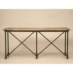 Old Plank Kitchen Island In Stainless And Bronze. Industrial Oak U0026 Steel  Paw Foot Console Table   Old Plank Antiques