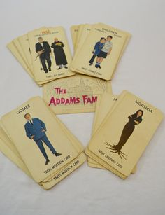 Vintage ADDAMS FAMILY playing cards game 1965 by ilovevintagestuff