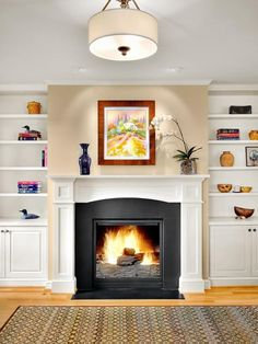 Fireplace Built In Cabinets