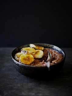 Chocolate Rice Pudding with caramelized bananas by Citrus and Candy, via Flickr
