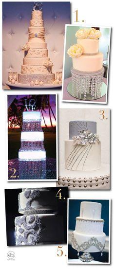 gorgeous #wedding #cakes full of #glitter