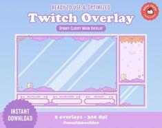 Kawaii Halloween, Purple Halloween, Arcade, Ouija, Twitch Streaming Setup, Game Streaming, Overlays Cute, Serpentina, Star Cloud