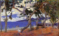 Gauguin. Coastal Landscape from Martinique, 1887. Copenhagen.  www.artexperiencenyc.com