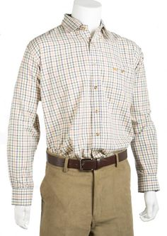 Bonart Classic Country lynton Check Shirt Long sleeves Placket front Single button through chest
