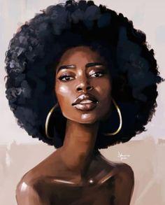 Art & beauty in 2019 black women art, art, black girl art. Black Love Art, Pretty Black Girls, Black Girl Art, Black Girl Magic, Art Girl, Black Art Painting, Black Artwork, Afro Painting, African American Art