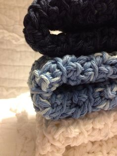 Cozy crocheted dishcloths in Shades of the by AllAboutTheCozy, $6.00