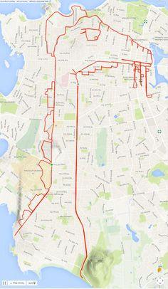 GPS Doodles – Un artiste dessine sur les cartes avec son vélo et un GPS
